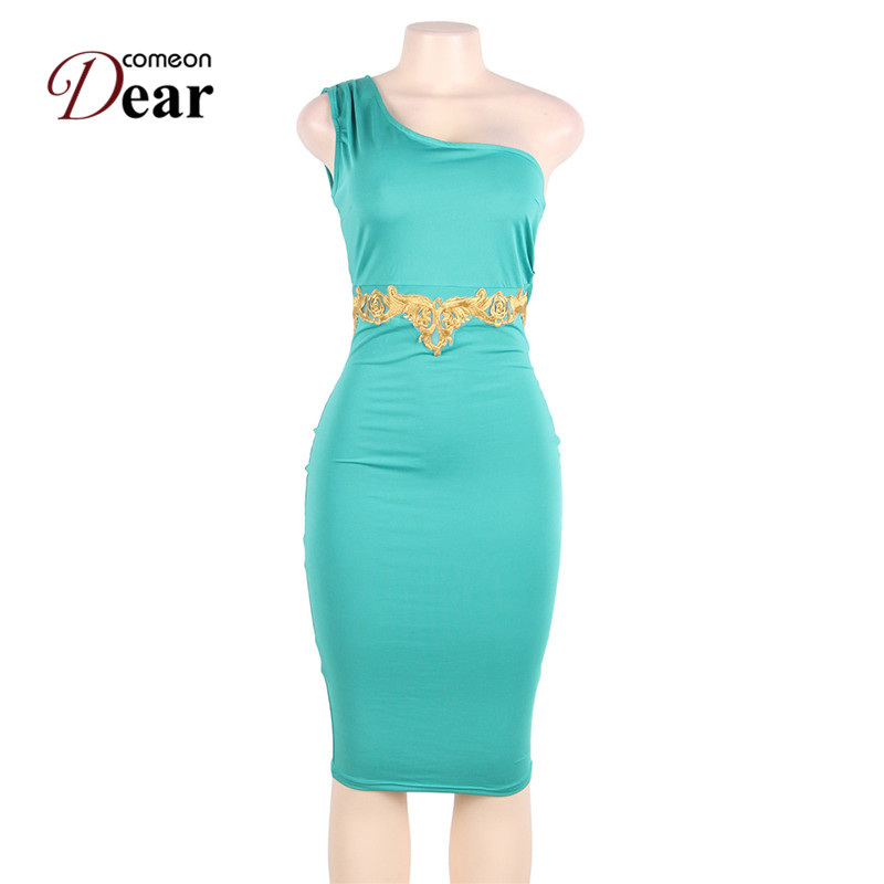 Comeondear RA80484 Grüne Bodycon-Scheide Elegantes Kleid - Damenbekleidung - Foto 4