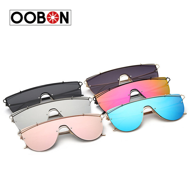 CVOO New Fashion Brand Lens Sunglasses Women Metal Vintage Oversized Tinted Sunglasses Mirror Male Female Pink Yellow Cool M2VWKTEtI