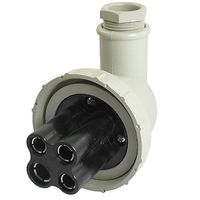 250V AC 20 Amp 3P E Right Angle Watertight Boat Marine Plug T 2MB