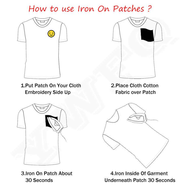 Смайлик корона вышивка аппликация для футболка Костюмы деко изысканный горный хрусталь лиса патчи DIY аксессуары Аппликация наклейка