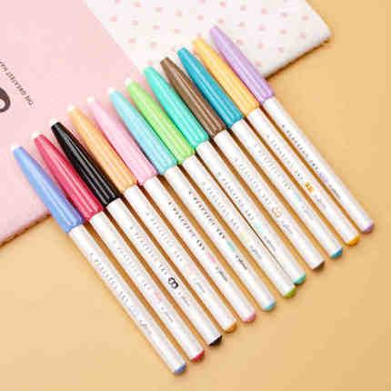 Deli a32356 12 colors/Set Color Gel Pen writing stationery Ballpoint Pens Stationery Caneta Escolar Office Supplies gel pen
