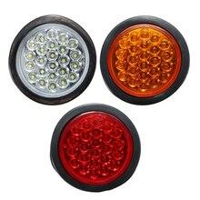 24 LED Car Rear Tail Light Stop Brake Light Round Reverse font b Lamp b font