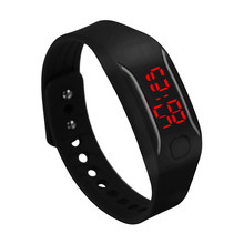 Mens Womens Clock Silicone LED Watches  Date Sports Bracelet Digital Waterproof Lady Wrist WatchF3