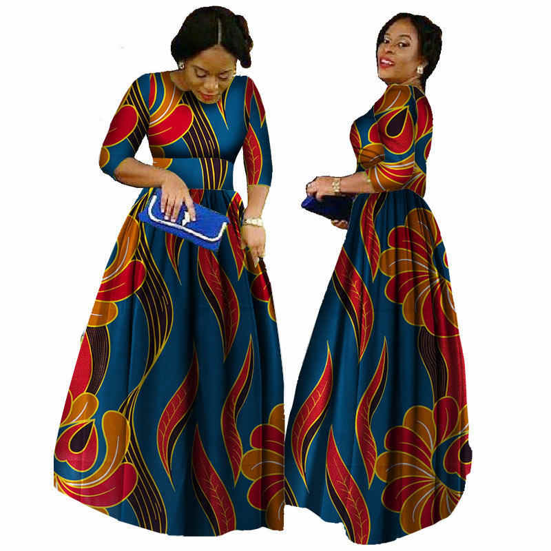 a1b2531db0538 African Dresses For Women 2019 Ankara Length Plus Size Traditional African  Clothing Half Sleeve Ball Gown