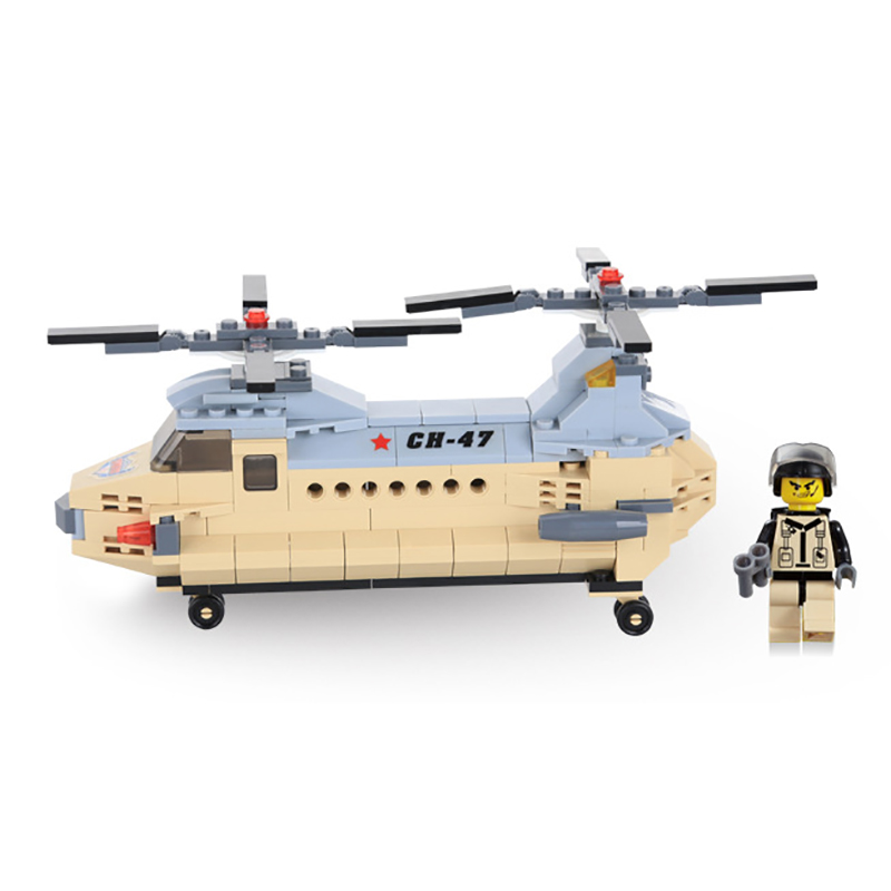 201pcs Military Series Transport Helicopter Bricks Kids Enlighten Toy blocks DIY Gifts Building Blocks Children Toys K0174-29005 [small particles] buoubuou creative puzzle toy toy bricks 30 16219 new military military series