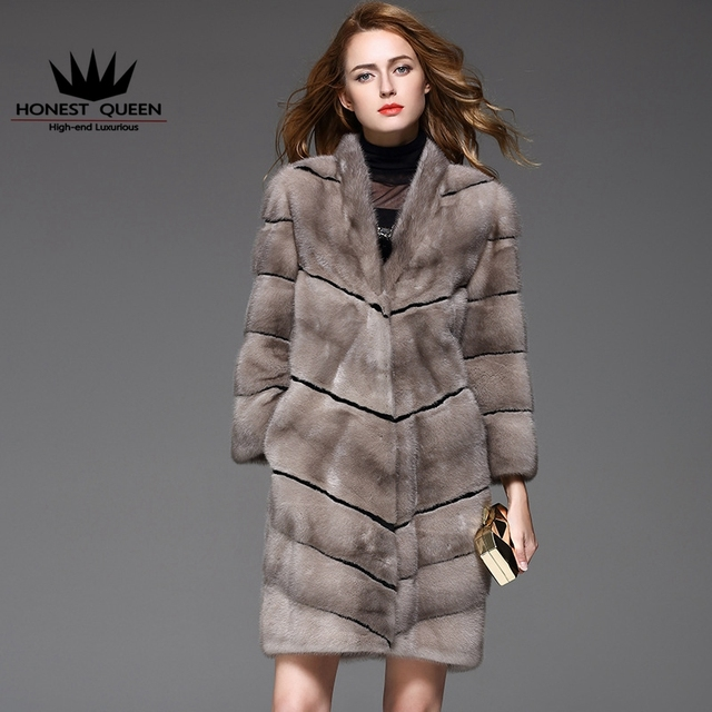 Aliexpress.com : Buy In 2017 the long The mink coat grass silver ...
