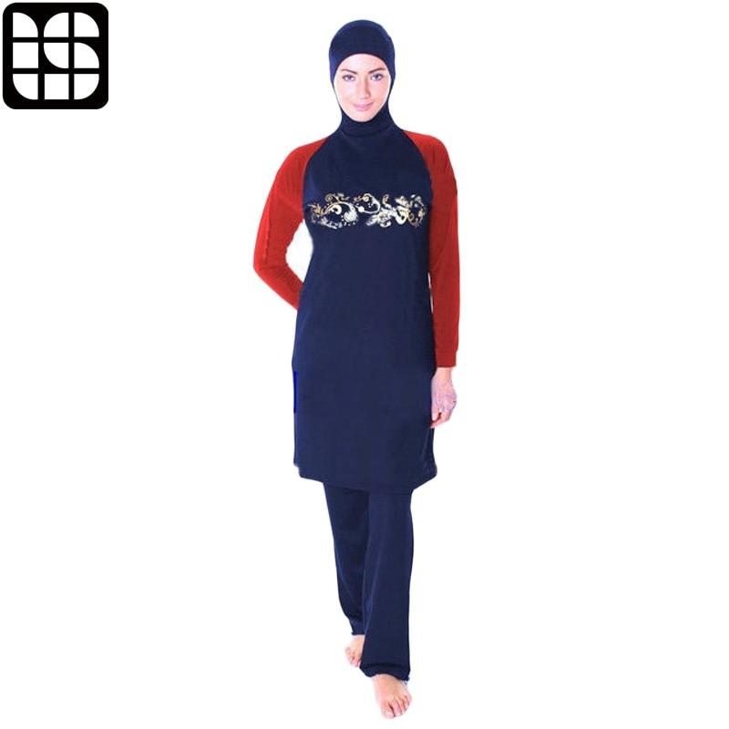 LISM Muslim Swimwear Sport Hijab Long Sleeves Full Cover Burkinis Plus Size islamic swim wear Women Modest Swimsuit