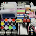 36 W de La Lámpara (opcional) 12 Color de GEL UV + claro cepillos de Uñas Dedo Falso Cortador clearnser plus Nail Art Tool Kit Establece