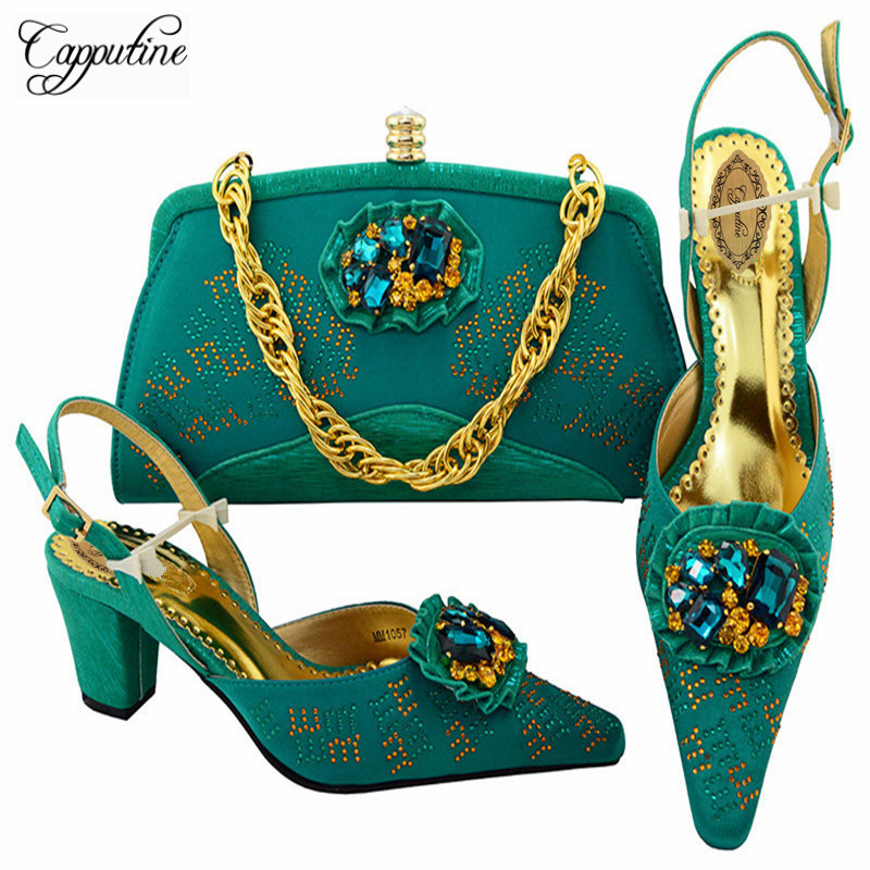 Capputine Latest Italian Shoes With Matching Bag Set New African Ladies Shoes And Bag Italian Party Shoes Free Shipping M10573 2016 spring and summer free shipping red new fashion design shoes african women print rt 3
