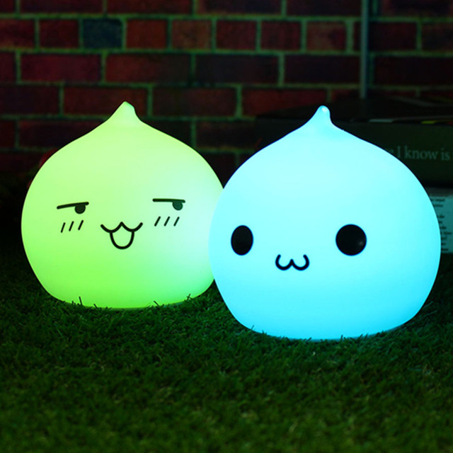 Waterdrop USB LED Night Light Lamp Clap Silicone Soft Night Lamps - Clap lights for bedroom