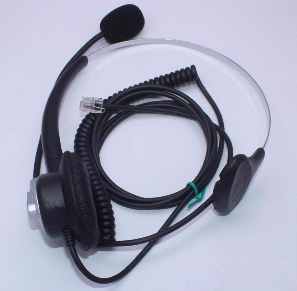 Wantek Call Center Telephone Headset for NEC Aspire DT300 DSX Polycom 335  400 Avaya 1416 6408D Aastra 6757i Mitel 5330 IP Phones