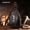 Nova Chegada de Moda 100% Homens De Couro Genuíno Sacos de Ombro de Alta Qualidade Homens Messenger Bags Vintage Casual Bolso Design Preto