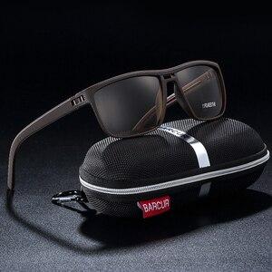 Image 2 - BARCUR الرياضية الرجال الاستقطاب النظارات الشمسية الذكور القيادة نظارات شمسية للرجال بولارويد عدسة مكبرة Gafas دي سول masculino
