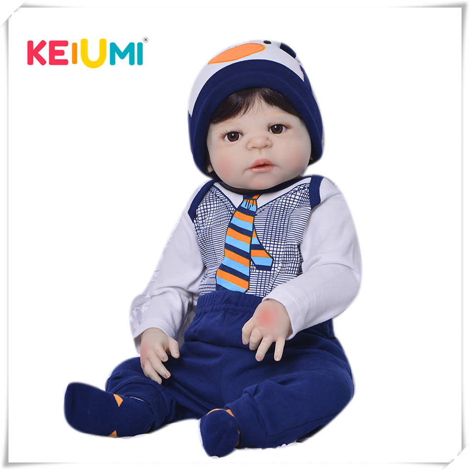 Limited Edition  23 Inch Reborn Baby Doll Toys 57 Cm Full Silicone Vinyl Realistic Newborn Babies For Boys Kid Holiday PresentLimited Edition  23 Inch Reborn Baby Doll Toys 57 Cm Full Silicone Vinyl Realistic Newborn Babies For Boys Kid Holiday Present