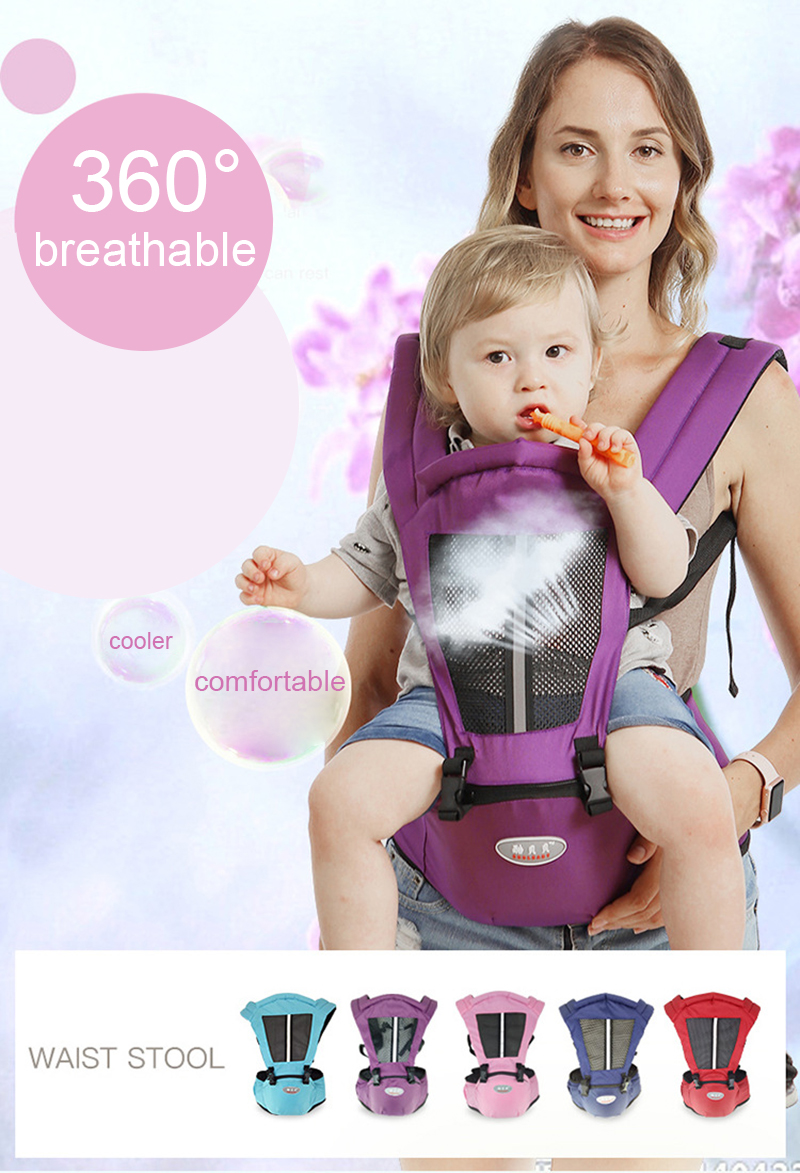 Newborn Baby Carrier Kangaroo Toddler Sling Wrap Portable Infant Hipseat Baby Care Waist Stool Adjustable Hip Seat 0-36 Months (24)