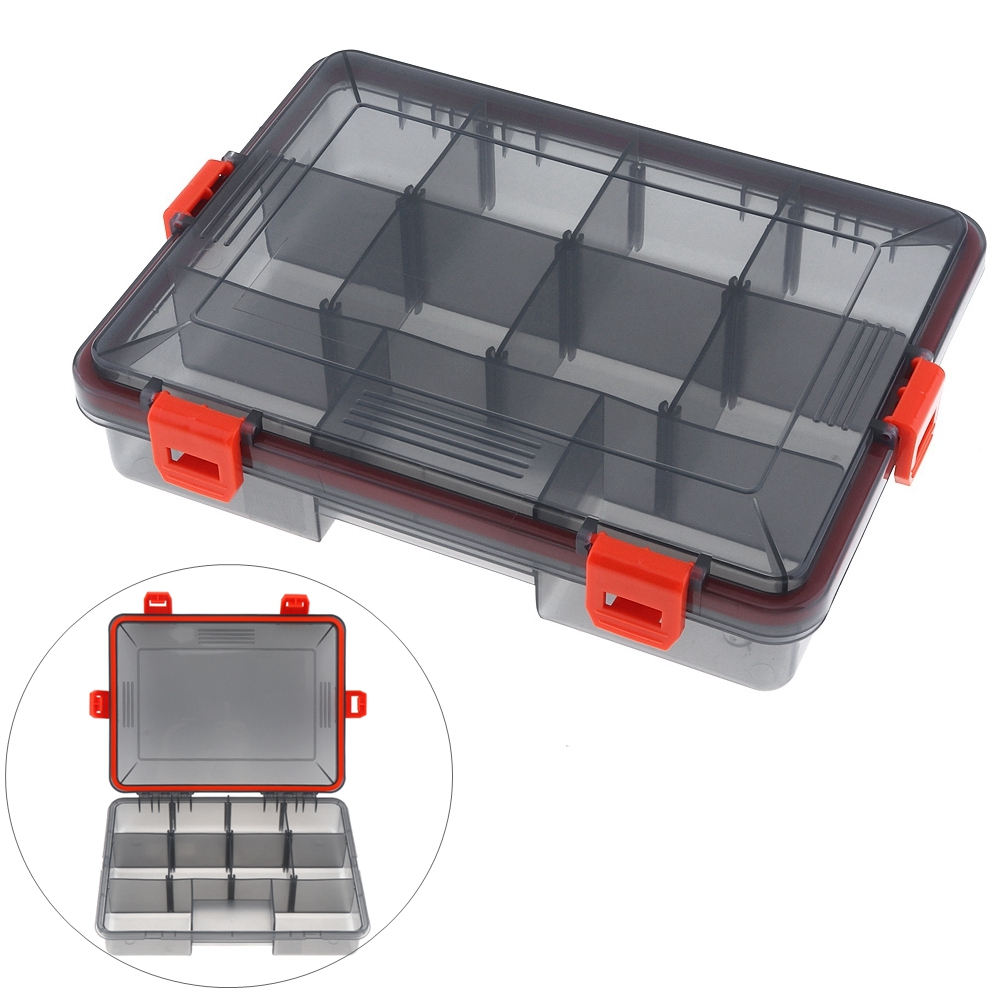 Convenient Waterproof & Seal 23cm x 18cm x 5cm Activity 11 Compartments 4 Lock Fishing Tackle Box|Fishing Tackle Boxes| |  - title=