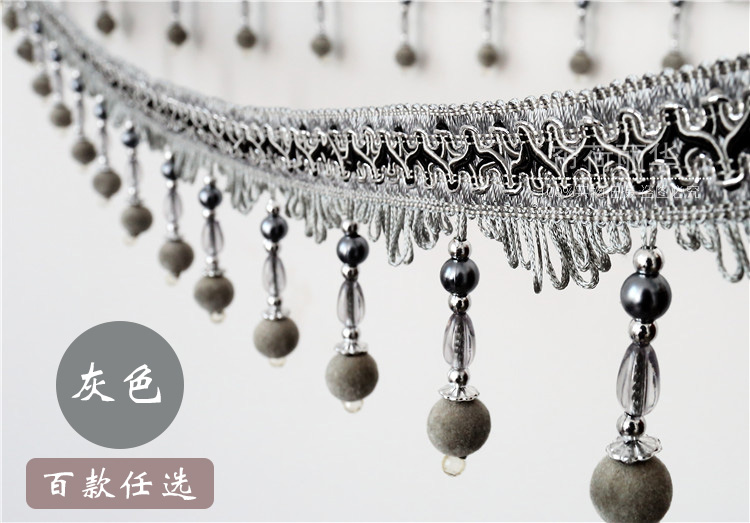 Aliexpress.com : Buy African Lace Fabric15m A Roll Beaded trim for ...