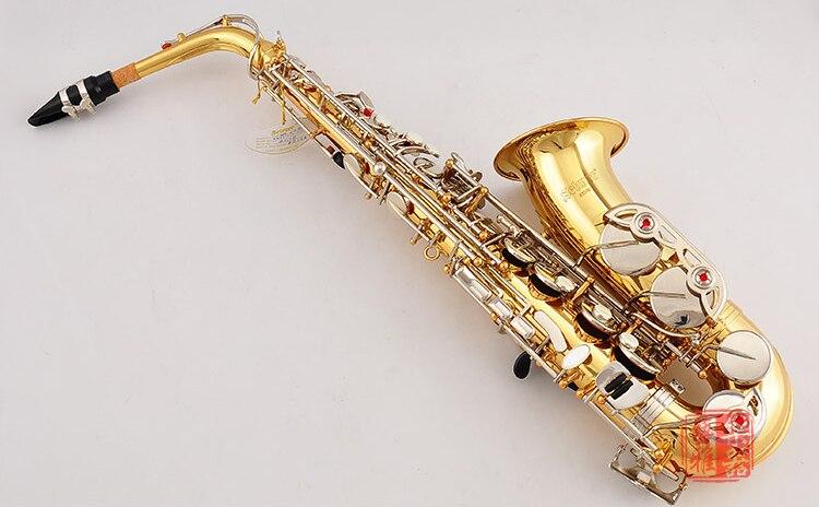 USA conn selme AS500 saxofón alto Eb electroforesis oro Saxofone instrumentos profesionales de viento de madera con funda boquilla