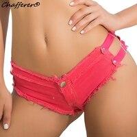 Summer Trendy Sexy Beach Jeans Shorts 2017 New Hot Denim Pants Triangle Buckle Zipper Hollowed NightClub