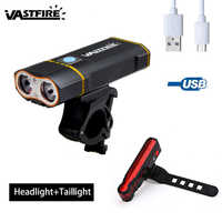 USB Rechargeable 2X L2 LED Bike Lights 6000 LM Front Bicycle Handlebar Headlight Cycling Torch Camping Flashlight