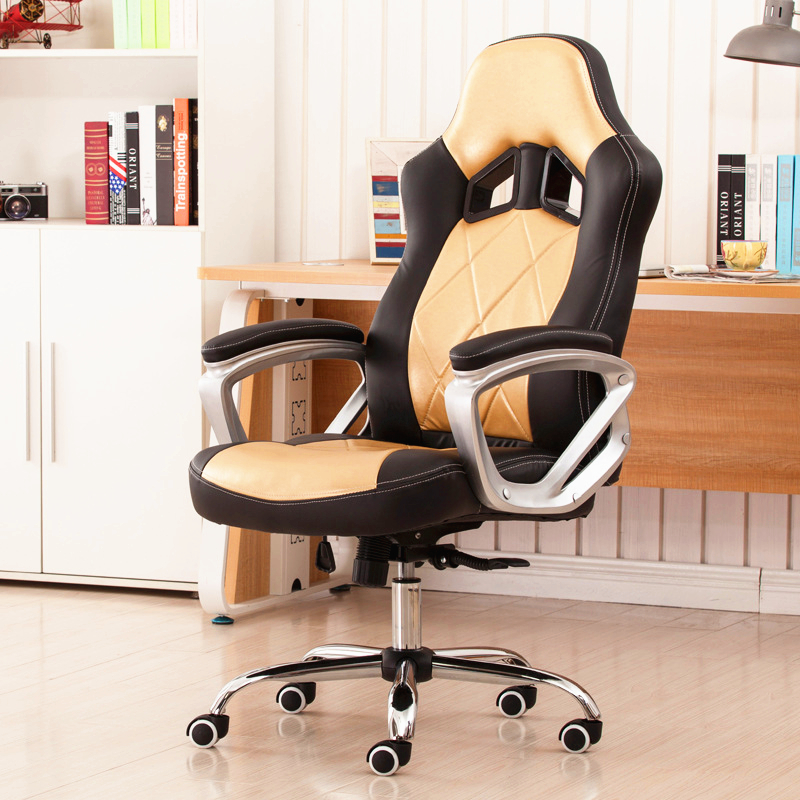 Luxury Ergonomic Fashion Office Chair Household Leisure Lying Lifting Computer Chair Super Soft Swivel Gaming Chair 240340 high quality back pillow office chair 3d handrail function computer household ergonomic chair 360 degree rotating seat