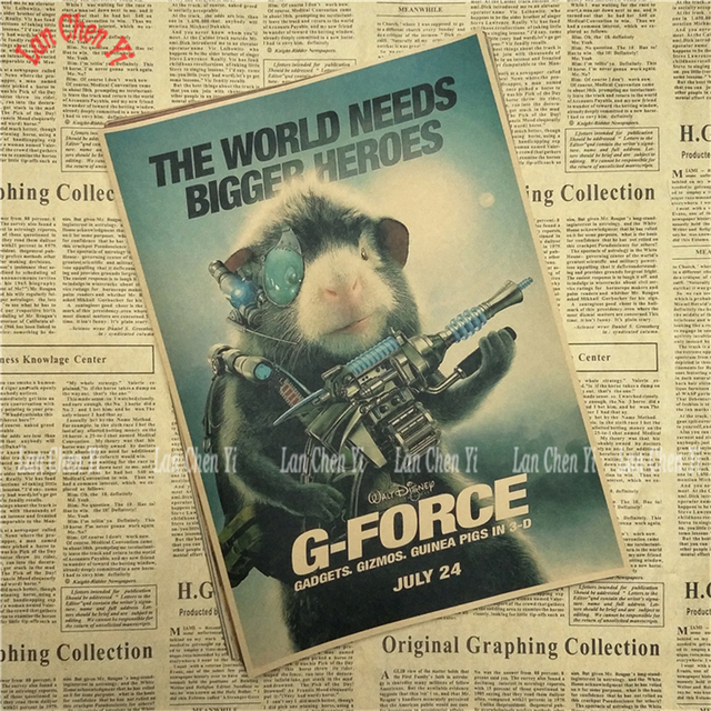G Force Cartoon Movie Kraft Paper Poster Bar Cafe Kids Room Interior Decoration Interior Decor Kraft Paper Posterpaper Poster Aliexpress