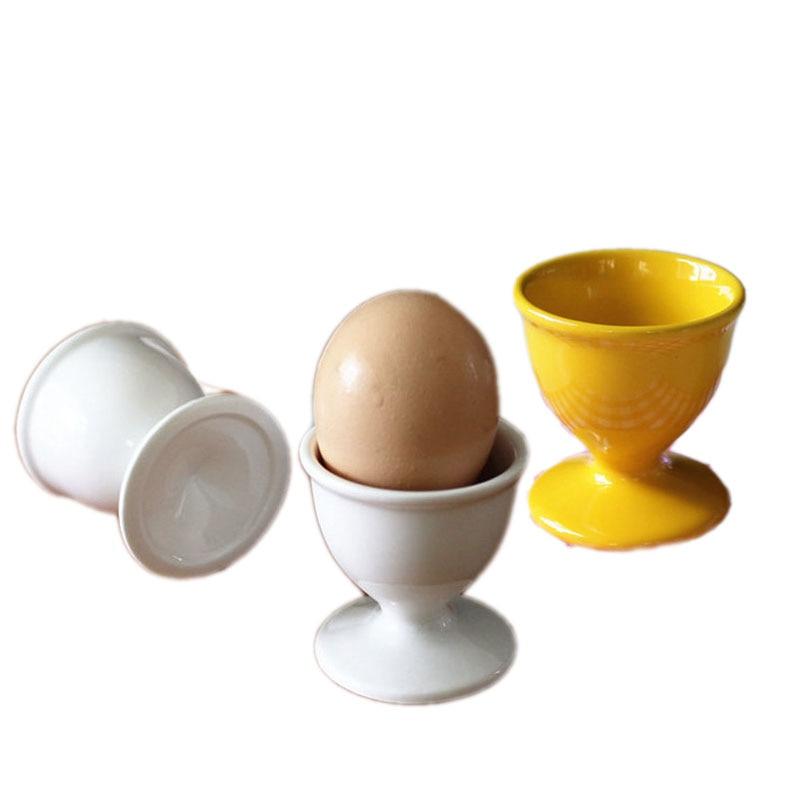 4pc Boiled Egg Cup Holder Pudding Dessert Ceramic Cups