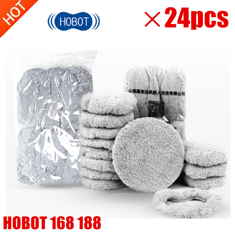 24pcs/lot New High Quality Robot Vacuum Cleaner Wet Mop Hobot168 188 Window Clean Mop Cloth Weeper Vacuum Cleaner Parts