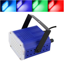 Mini Sound Control Laser Lights SMD5050 36LEDs Stroboscopic DJ Strobe Light Home Entertainment Music Show Stage Lighting Effect(China)