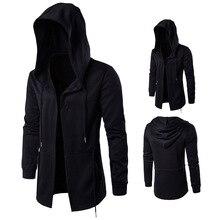 Plus Size 5XL 2019 Hoodies Men Black Cardigan Hoodie Hooded Mantle Clothing M-5XL Outerwear Jacket Mens Sweatshirts