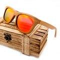 BOBO PÁSSARO 100% Natural De Bambu De Madeira Óculos De Sol para Mulheres Dos Homens Handmade Lentes de Revestimento de Espelho Polarizado Eyewear Com Caixa de Presente