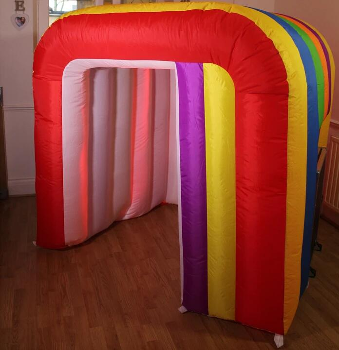 Colorful Kids Inflatable Photo Booth With LED Light On Bottom