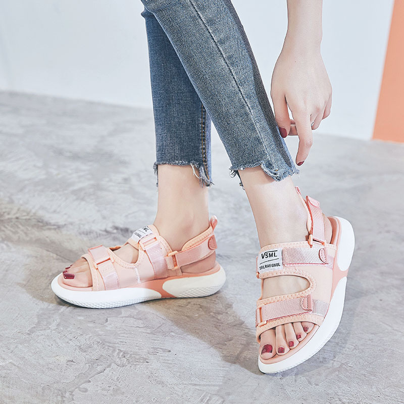 Casual Sandals Korean-Version Female New The of Tide Wind-Wild-Flat-Student Sports