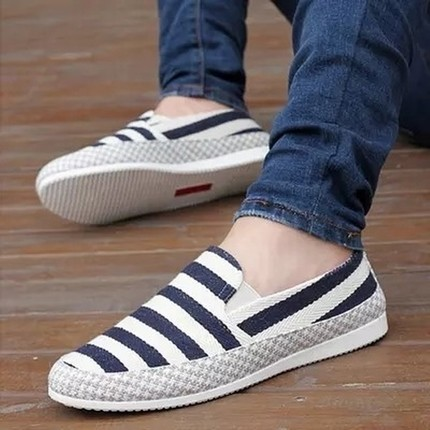 2018 Canvas shoes summer breathable beans shoes, men's casual linen cloth shoes, outdoor comfortable lightweight shoes 5