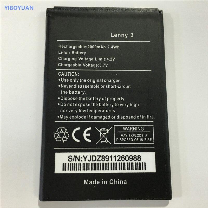 3.7V 2000mAh For Wiko Lenny3 Battery