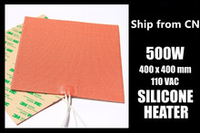 A Funssor 400 x 400mm Industrial Silicone Heater 500W/110V for Reprap 3D Printer Heated Bed