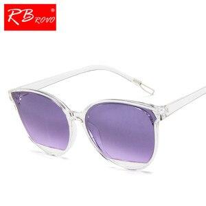 RBROVO جديد وصول 2019 نظارات الموضة المرأة خمر النظارات المعدنية مرآة الكلاسيكية خمر Oculos دي سول Feminino UV400