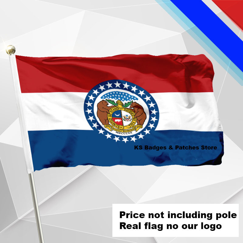 3x5ft #1 288x192 #2 240x160 #3 192x128 #5 96x64 #6 60x40 #7 30x20 Ein GefüHl Der Leichtigkeit Und Energie Erzeugen Missouri Flagge Fliegen Flagge #4 144x96