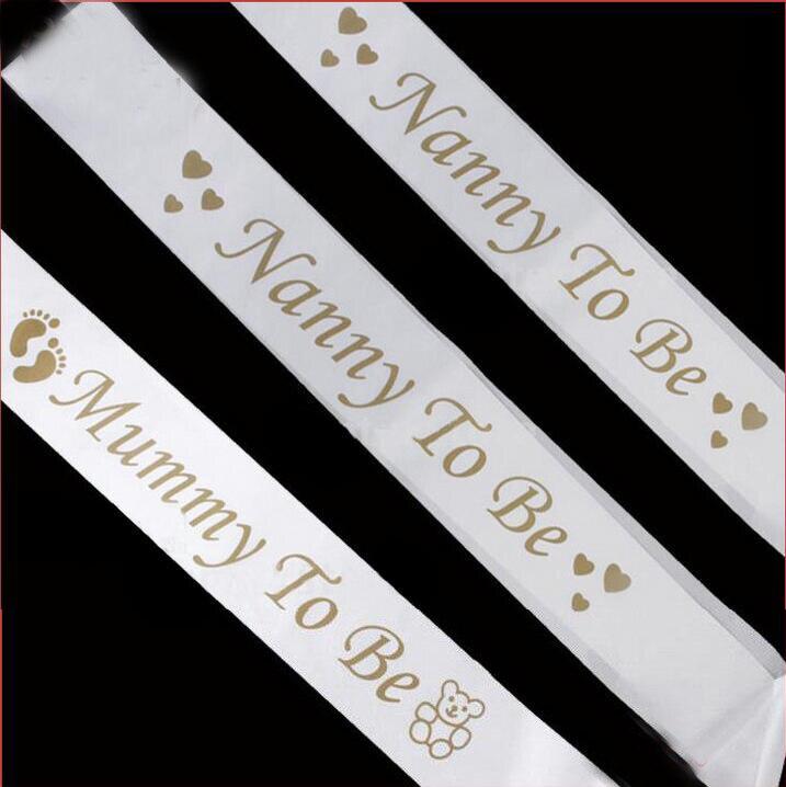 Nanny Birthday Gift Ideas Eskayalitim Source 20pcs Lot White Satin Mummy To Be Sash Ribbon For