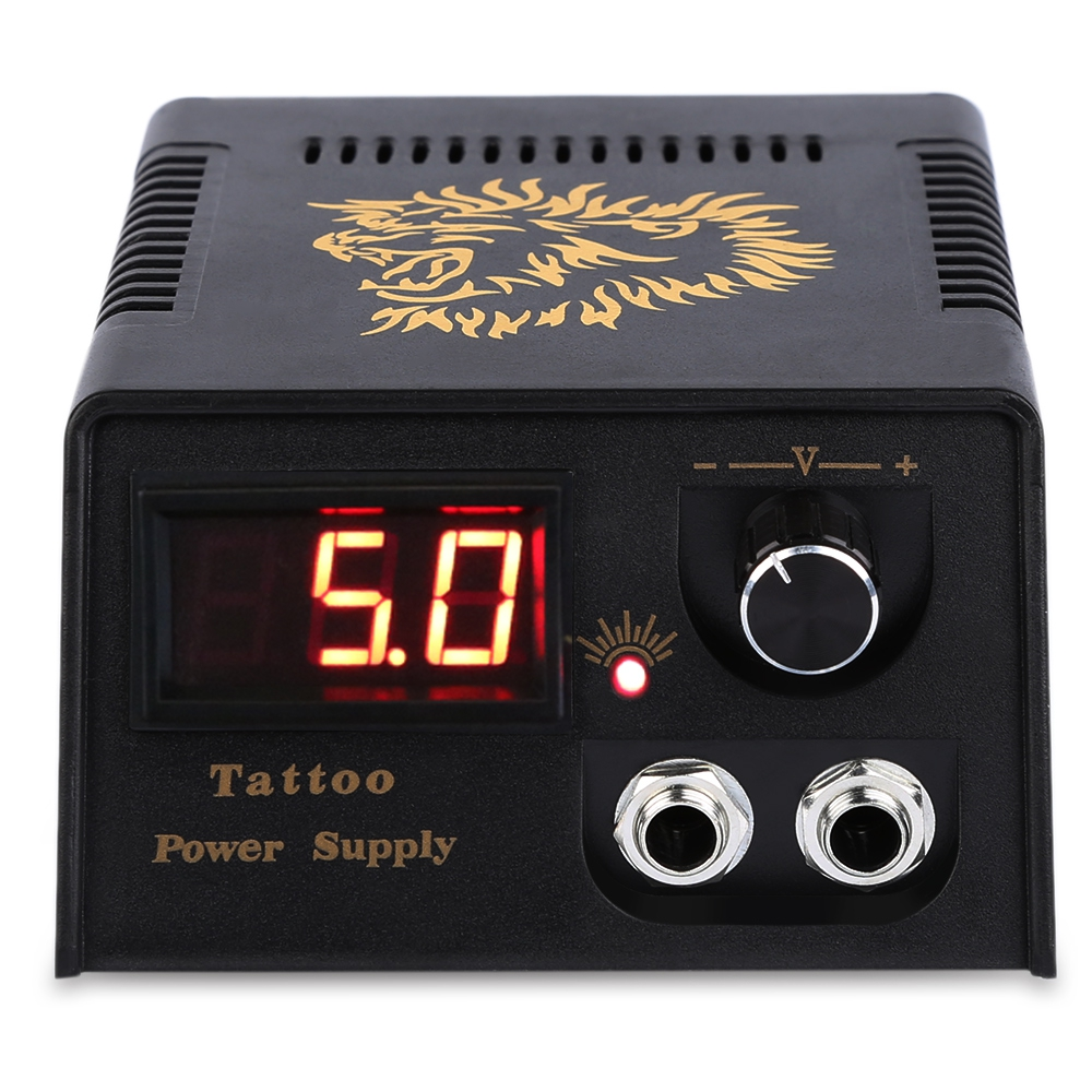 Professional Digital LED Tattoo Power Supply for Foot Pedal Switch Machine Tattoos Cord Pedal Tattoo Tools Supplies professional round red color 1 8 meters stainless steel tattoo foot pedal switch equipment supply tattoo clipcord dz 04r