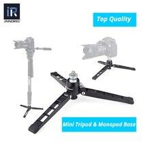 """Mini câmera tripé monopé da base de Suporte suporte de mesa mini mesa tripé com cabeça de bola 1/4 """"3/8"""" adaptador para câmera DSLR"""