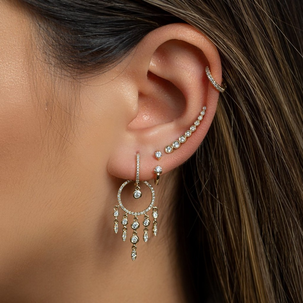 Elegance Wedding Engagement Moving Dangle Chandelier Earrings Cz Tassel Drop Gorgeous Women Jewelry