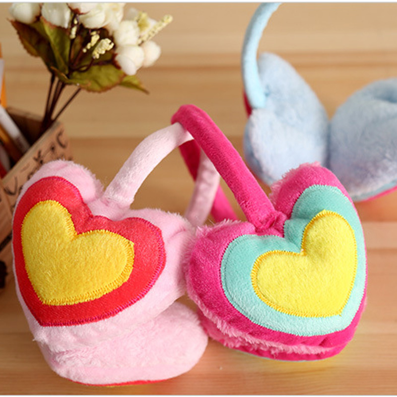 Angel Wings Fur Earmuffs Kids Winter Headphones Warm Accessories For Women Ear Muff