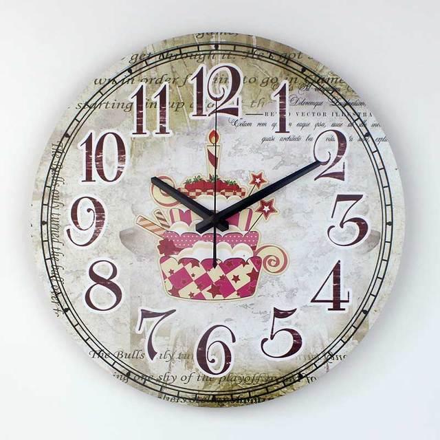 Impermeabile orologio faccia cucina orologio da parete design moderno della torta del fumetto - Orologio parete cucina design ...