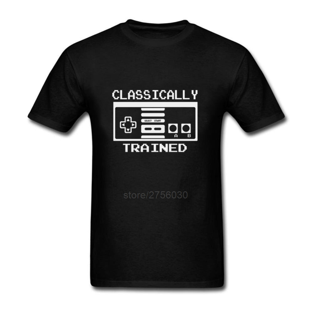Для Мужчинs футболки короткий рукав классически обученный ne Видео игровой контроллер с круглым вырезом Для мужчин s футболка