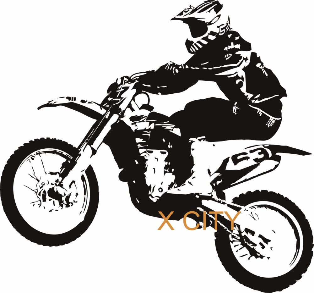 MOTORCROSS MOTORBIKE COOL SPORT Creative Vinyl Wall Decal Art Home Decor Sticker Living Room Door Window Stencil Mural