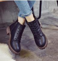 2019 winter new thick bottom with Korean boots thick with Martin retro British women's cotton boots