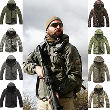 Outdoor Sports  Shark Skin Soft Shell Camo Jacket & Pants Men Hiking Hunting Clothes Camouflage Tactical Military Clothing outdoor sports tad shark skin soft shell winter fleece pants tactical military camo pants men windproof warm tactical trousers