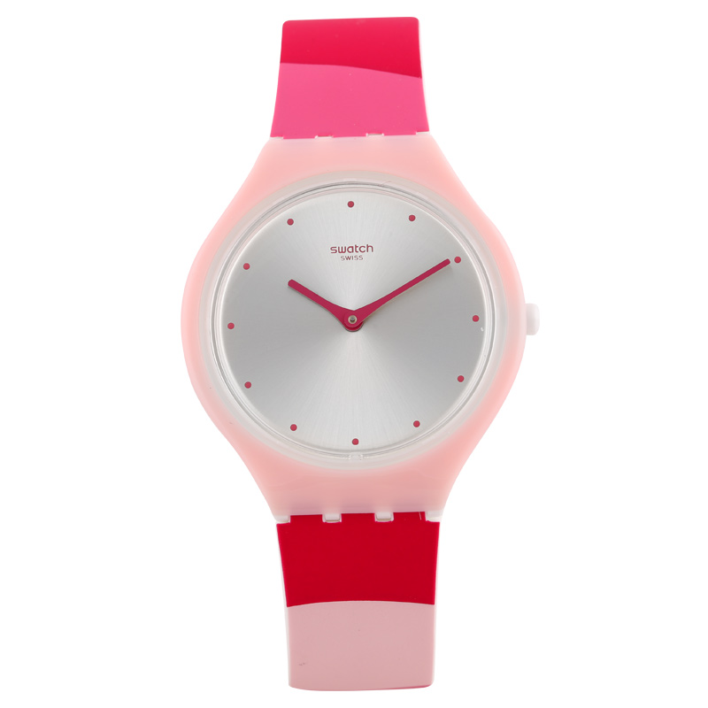Swatch watch SKIN series Fashion Pink Cross quartz male and female table SVOP101