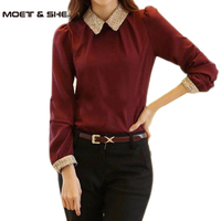 High Quality Office Ladies Elegant Thick Solid Chiffon Bottoming Shirt Long Sleeve Sequined Slim Top 3